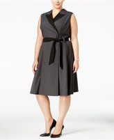 Calvin Klein Plus Size Colorblocked Wrap Dress