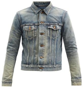 Saint Laurent Sandblasted Denim Jacket - Blue