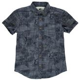 Soul Cal SoulCal Kids Short Sleeve Fashion Shirt Junior Boys Pattern Pocket Polka Dot