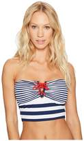 Lauren Ralph Lauren Modern Marine V-Wire Midkini Top w/ Removable Cups