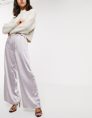 Dr. Denim wide leg satin pant