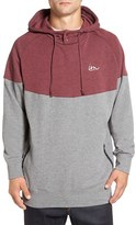 Imperial Motion Men's 'Forcast' Colorblock Henley Fleece Hoodie