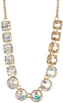 Betsey Johnson Single Row Multi-Stone Link Necklace