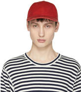 Junya Watanabe Red Cotton Canvas Cap