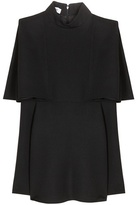 Valentino Cape Effect Wool Crêpe Top