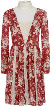RED Valentino Floral Tapestry Ruffle Dress