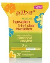Alba Hawaiian 3-in-1 Clean Towelettes (Pack of 2)