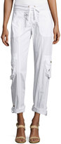 XCVI Twill Drawstring Ankle Pants, White