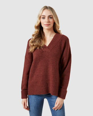 French Connection Women's Jumpers & Cardigans - Chunky V Neck Knit - Size One Size, XS at The Iconic