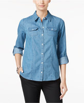Charter Club Petite Denim Shirt, Only at Macy's