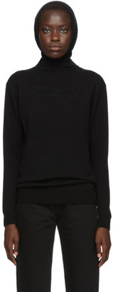 Ambush Black Knit Embossed Turtleneck