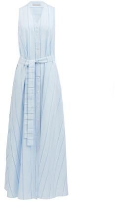 Palmer Harding Palmer//harding - Sedona Striped Cotton-blend Shirt Dress - Womens - Light Blue
