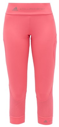 adidas by Stella McCartney Essentials Mesh-panelled Technical Leggings - Womens - Pink