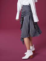 Diane von Furstenberg Draped Asymmetric Midi Skirt
