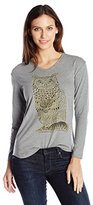 Hanes Women's Long Sleeve V-Neck Graphic Tee