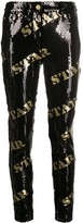 Moschino star sequin trousers