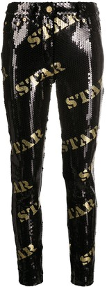 Moschino Sequin-Detail Trousers