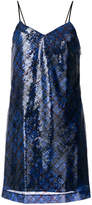Tommy Hilfiger Tartan sequin mini slip dress