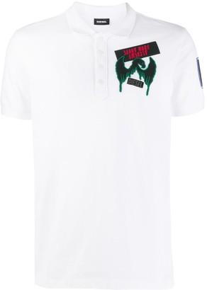 Diesel graphic polo shirt
