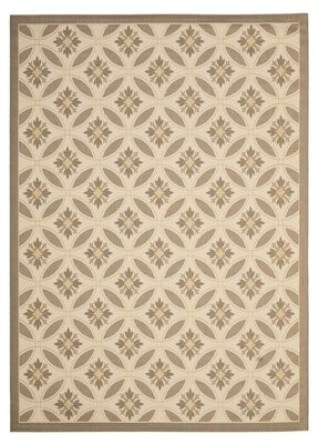 Safavieh Courtyard Beige/Dark Beige Indoor/Outdoor Area Rug Size: Rectangle 4' x 5'7""