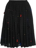 Thierry Colson Grisette Garden-embroidered cotton skirt
