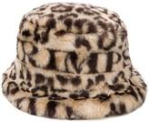Shrimps Carson leopard faux-fur hat
