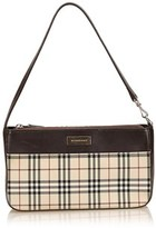 Burberry Pre-owned: Plaid Jacquard Shoulder Bag.
