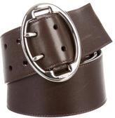 Prada Wide Leather Belt