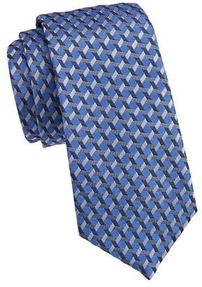 Emporio Armani Crossing Stripe Silk Tie