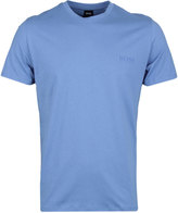 Boss Bright Blue Pure Cotton Crew Neck T-shirt
