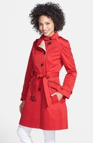 Cole Haan Asymmetrical Skirted Trench Coat