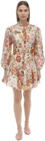 Zimmermann EMBROIDERED LINEN MINI DRESS