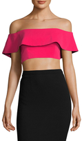 Jay Godfrey Walker Off Shoulder Crop Top
