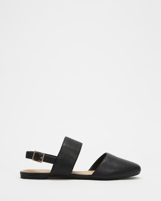 Spurr Women's Black Flat Sandals - Malia Flats - Size 5 at The Iconic