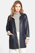 Kenneth Cole New York Faux Leather Car Coat