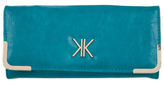 Kardashian Kollection Flap Over Wallet Teal
