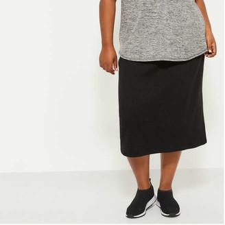 Joe Fresh Women+ Ribbed Pencil Skirt, Black (Size 1X)