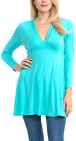Magic Fit Sky Blue Long-Sleeve Surplice Tunic