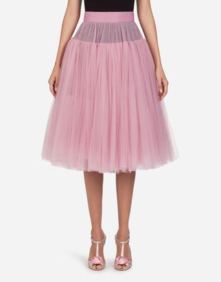 Dolce & Gabbana Tulle Midi Skirt