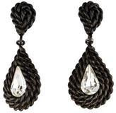 Saint Laurent Crystal Teardrop Clip-On Earrings