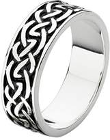 Heritage Sterling Silver Oxidised Celtic 6mm Band Ring - Size R