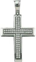 DazzlingRock Collection 0.20 Carat (ctw) 10k White Gold Brilliant White Diamond Ladies Cross Pendant