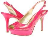 Nine West JustSmile (Pink Synthetic) - Footwear