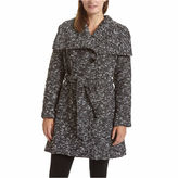 Excelled Leather Excelled Belted Boucle Wrap Jacket