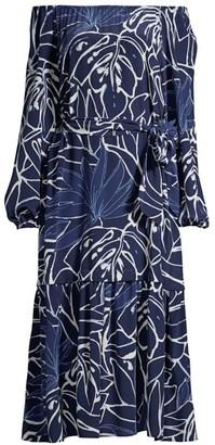 Lafayette 148 New York Aurora Off-The-Shoulder Silk Dress