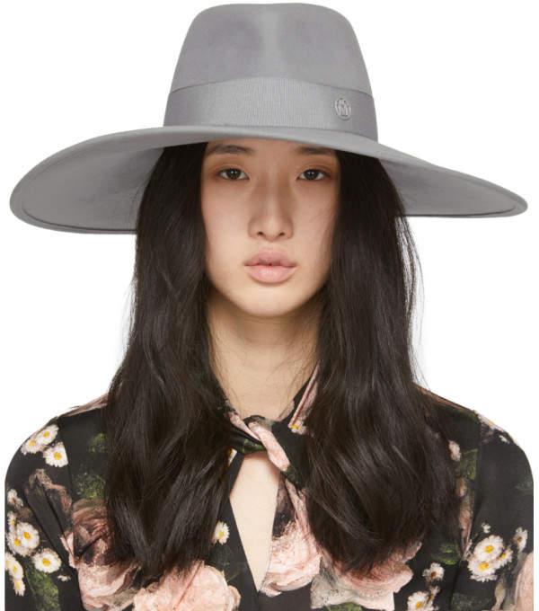 Maison Michel Grey Pina Capeline Hat