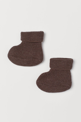 H&M Knit Slipper Socks - Beige