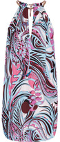 Emilio Pucci Printed Cady Mini Dress - Lavender