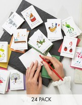 Paperchase 12 Days of Holidays 24pk Holidays Cards