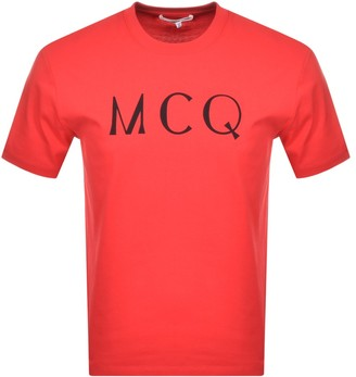 McQ Logo T Shirt Red